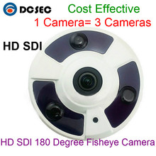 "HD SDI 1080P WDR Mini camera 1/3"" Panasonic 2.1Megapixel 180 degree wide angle Fisheye security camera HD-SDI cctv cam"