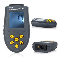 Digital Laser Tachometer LCD RPM Test Small Engine Motor Speed Gauge Non-contact HS2234 (No Battery)(China)