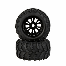 GoolRC 2Pcs RC 1/8 Car Wheel Rim and Tire 810006 for Traxxas Tamiya HPI Kyosho RC Car