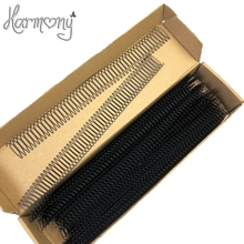 (30 Pieces, 55 teeth/piece) Black plastic wig combs for wig cap, pony tails and hair pieces, small wire wig combs(China)
