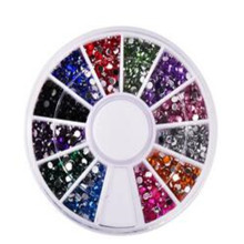 MOONBIFFY 5 species 3d Nail Art Decorations Acrylic Diamond Shapes Rhinestones To Nails Art Accessories