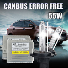 One set C5 55W H1 xenon Canbus Super slim xenon H1 HID kit 55w 12v H7 H1 H3 H8 H9 H10 H11 Canbus HID