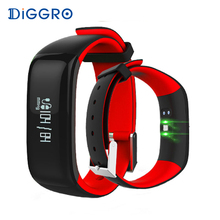 Diggro P1 Smartband Blood Pressure Bluetooth Smart Bracelet Heart Rate Monitor Smart Wristband Fitness for Android IOS Phone(China)