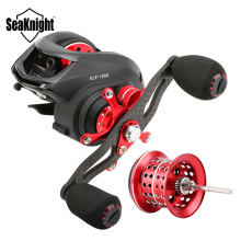 CLOSE OUT SeaKnight ELF1200 Carbon Fiber 169g Two Brake System Casting Fishing Reel 14BB Bait Casting Reel+Spare Shallow Spool