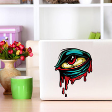 Colorful Bleeding Eye Creepy Zombie Car Bumper Sticker Wall Art Sticker Laptop Decals Self Adhesive Wallpaper Home Decor(China)