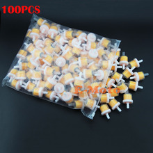 100pcs Yellow 6.5mm inline Fuel Filter Engine Industrial Universal Bike Motorcycle Gas Filters FUEL FILTE Free Shipping