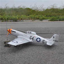 "P-51 Mustang 20cc 68""/1730mm Balsa Wood Gas Airplane Model Scale Plane With Carbon Fiber Spinner Retract Landing Gear"