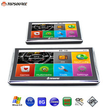 TOPSOURCE 5 inch & 7 inch Auto Car GPS Navigation 8GB 800MHZ Map Free Upgrade Navitel Europe Sat nav gps navigator automobile(China)