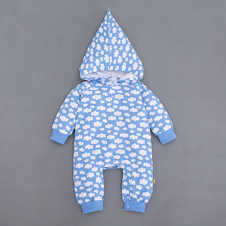 2017 new spring Autumn Baby rompers Newborn Cotton cartoon floral hooded Clothes bebes Long Sleeve Infant Boys Girls jumpsuit<br><br>Aliexpress