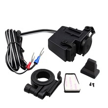 W23 Waterproof Cigarette Lighter Charger 12V USB charger for Car Motocycle Scooter Black Color Free Shipping
