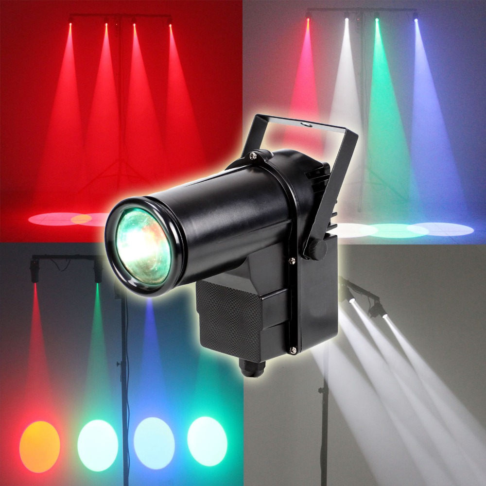 RGBW 10W Party Disco Wedding DJ DMX Stage Light Beam Pinspot Spotlight<br>