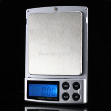 100pcs by dhl fedex 500g 0.01g electronic jewerly scale pocket balance gram diamond gold kitchen weighting with leather case(China)