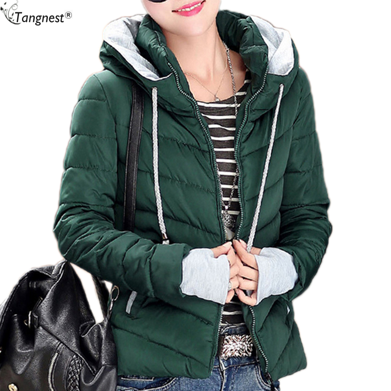 TANGNEST Women Warm Down Parka 2017WINTER COAT Candy Color Cotton Padded Jacket Woman Slim Hooded Brand Warm Short Coat WWM1350Одежда и ак�е��уары<br><br><br>Aliexpress