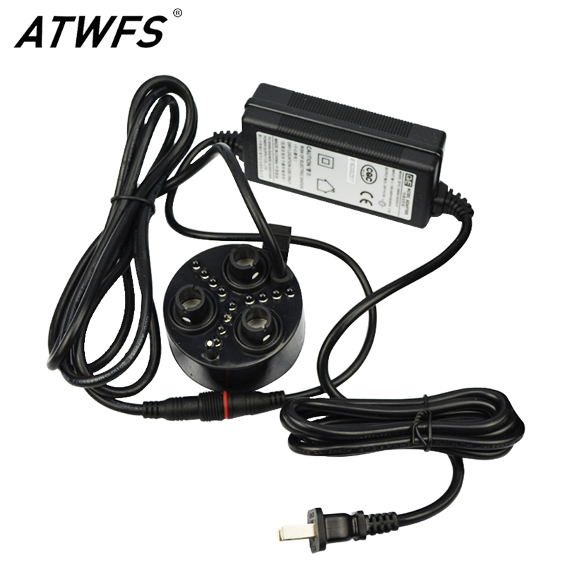 ATWFS High Quality 3 Head Atomizer Ultrasonic Mist Maker Fogger with LED Lights Humidifier Atomizer<br>