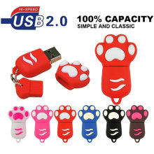 USB flash Drive 4GB 8gb 16gb Cat paw Pen drive Cartoon pendrive 32GB USB Stick Flash Drive 64GB USB Flash u disk with Key Chain