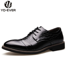 leather Men Oxfords Spring/Autumn Men Casual Flat ,breathable business shoes , Crocodile hand made new fashion dress shoes(China)