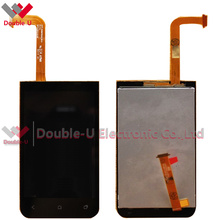 1pcs/lot 100% Working Original Black For HTC Desire 200 LCD Display Touch Screen Glass Digitizer Assembly, Free Shipping