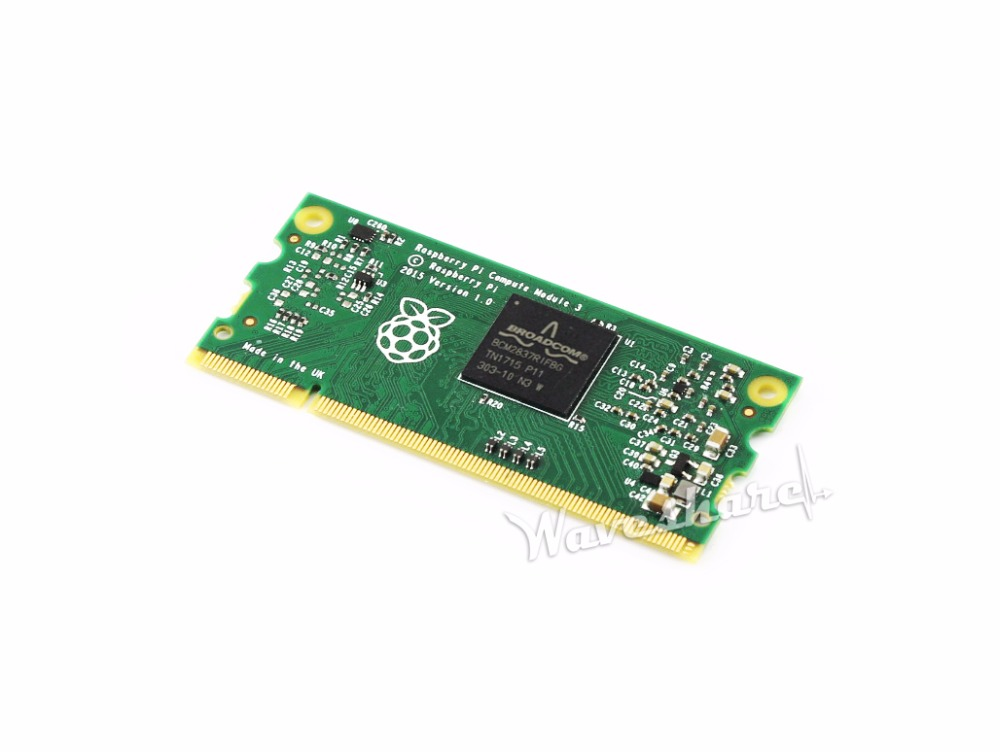 Parts Raspberry Pi Compute Module 3 Lite Contains the guts of a Raspberry Pi 3 1.2GHz quad-core ARM Cortex-A53 processor<br>
