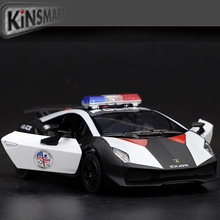 High Simulation Exquisite Diecasts Toy Vehicles KiNSMART Car Styling Sesto Elemento Police CCar 1:38 Alloy Diecast Model Toy Car