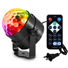 LED Crystal Magic Ball 3W Mini RGB Stage Lighting Effect Lamp Bulb Party Disco Club DJ Light Show wirh Remote Control