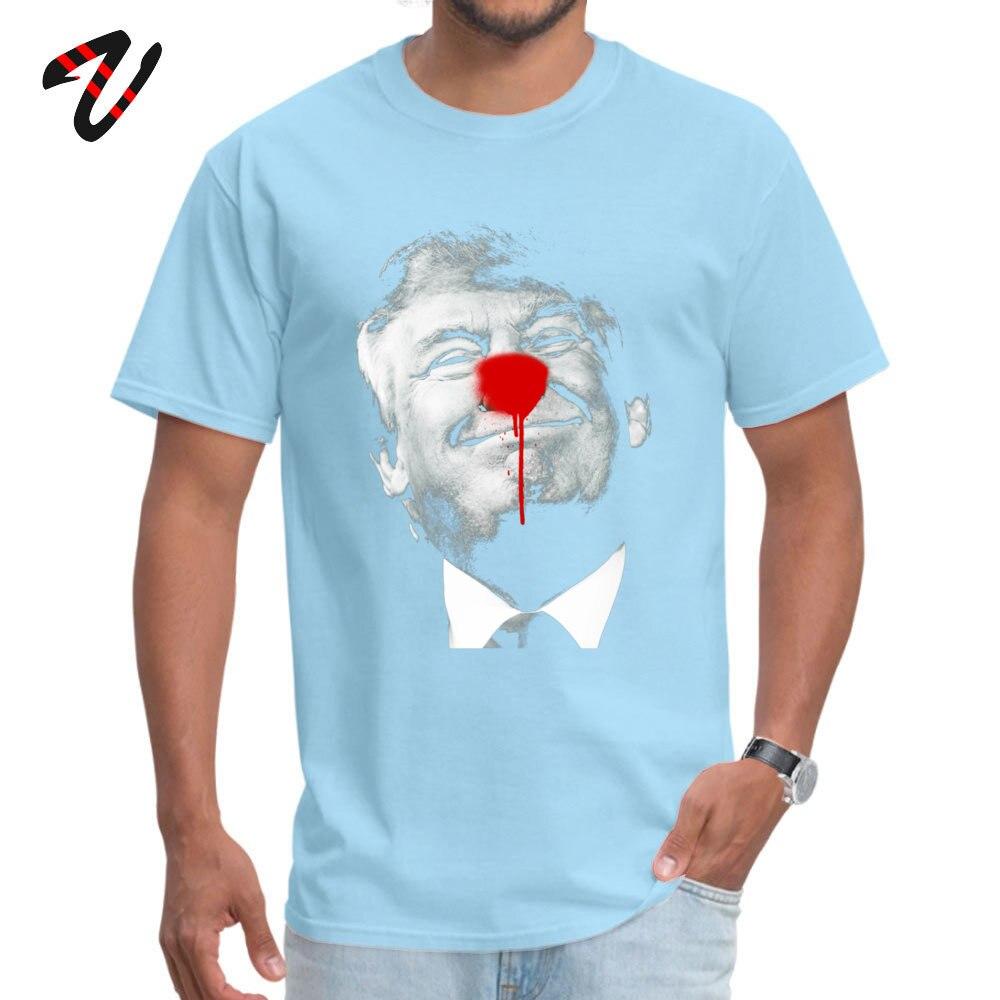 Geek T Shirts Normal Short Sleeve Cheap Round Collar 100% Cotton Fabric Tops Shirt Crazy T Shirt for Male Summer Donald Trump is a Clown 9036 light