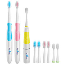 Family Pack Brand Electric Toothbrush High Quality Waterproof Deep Clean Teeth Whitening Non-Rechargeable Teeth Brush(China)