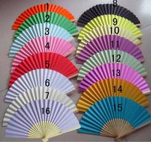 Bamboo frame colorful paper folding fan wedding gift hand fan