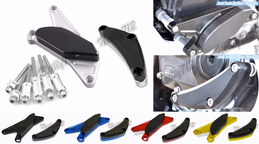 Motorcycle Left &amp; Right Engine Crash Pads Frame Sliders Protector For Suzuki GSXR 600 750 2011 2012 2013 2014 2015 2016 2017<br>