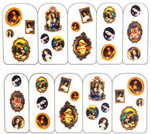 Water Transfer Nail Art Stickers Decal Vintage Religion Virgin Mary Design Decorative DIY French Manicure