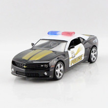 RMZ 1:36 Scale Emulational Alloy Diecast Toy Car Model, Pull Back Police Cars Toys,Doors Openable Police Car For Collection