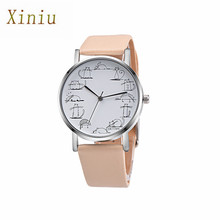 Women Cartton Watch Hot Sale Casual Retro Design Lovely Cartoon Cat Leather Band Analog Alloy Quartz Wrist Watch Relojes Mujer