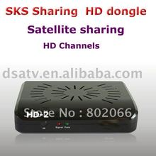 hd dongle receiver dongle satellite sharing receiver  dognle fta