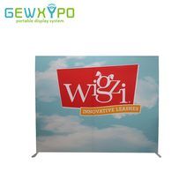 10ft*8ft Square Corners Tension Fabric Printed Banner With Aluminum Frame,Exhibition Pop Up Booth Advertising Backwall Display(China)