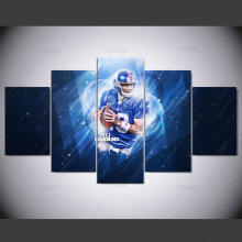 YSDAFEN Sports Stars Giants Eli Manning Modern Home Wall Decor Canvas Paintings For Living Room Vintage Modular Wall Paintings(China)