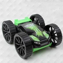 ABS MEKBAO RC Car 4CH Double Side RC Drift Car Rock Crawler Roll Remote Buggy Cars With Remote Control Cars EU plug Green(China)