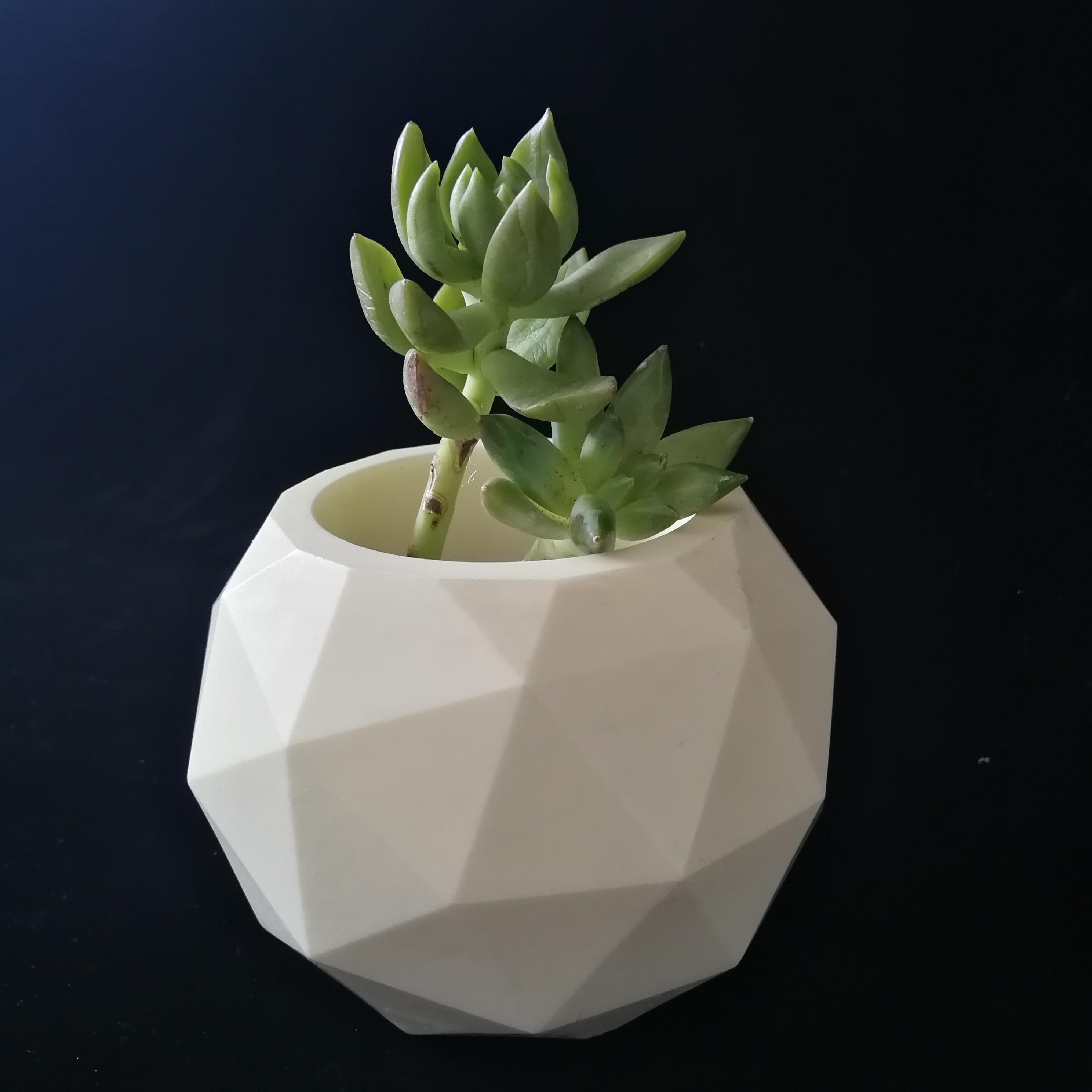 3D Silicone Flower Pot Succulent Plant Mold DIY Craft Concrete Vase Soap Moulds