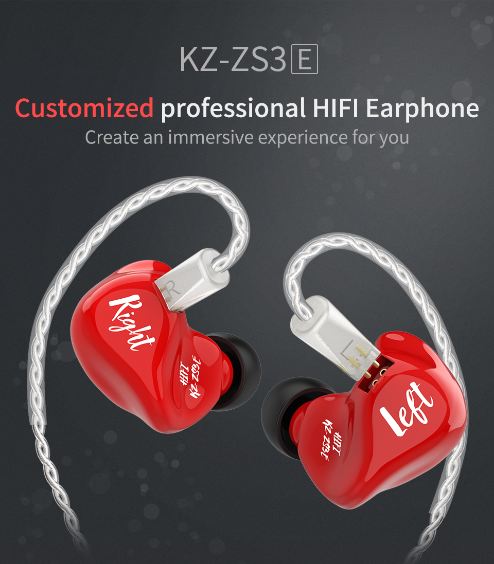 KZ_ZS3E_ZS3_Earphones_Dynamic_HIFI_Stereo _Headset_In_Ear_Monitor_Red_Sport_Headphone_Noise_Cancelling_Gaming_Earbuds_11.11_Limited _Version (1)