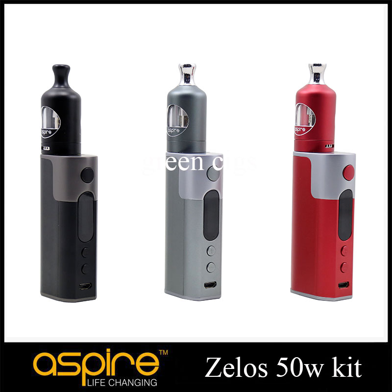 Original Aspire Zelos 50W Kit Zelos Box Mod Vape 2500mah Battery with 2ml Aspire Nautilus 2 Tank Vaporizer Nautilus BVC coil<br><br>Aliexpress