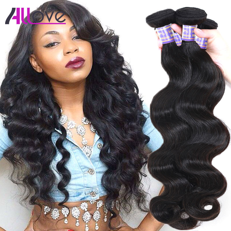 7A Grade Indian Virgin Hair Body Wave 3 Bundles Allove Hair Products Indian Body Wave Unprocessed Human Hair Weave Extensions<br><br>Aliexpress