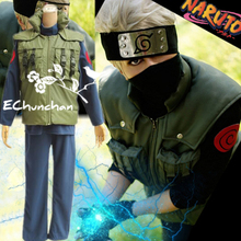 Naruto Hatake Kakashi cosplay costume full set include kunai shoes headband gloves leg waist bag mask