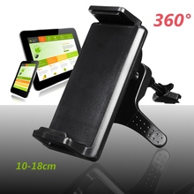 Universal 360 Degrees Rotating Air Vent Car Stand Mount Holder For Cell Phone New Tablet Holder Mount Stand For iPad For Samsung(China)