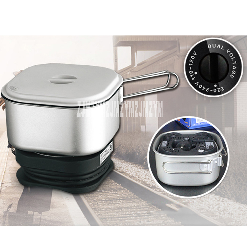 110V / 220V dual voltage mini travel pot 1.3L portable electric cup student dormitory cooking noodles pot hot pot 350W<br>