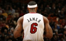 Hot Basketball Star LeBron James And His No. 6 Jersey Back High-Definition Large Waterproof Wall Picture Silk Poster 20x32inch