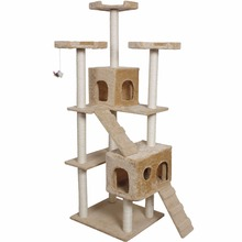 "Goplus 73"" Cat Kitty Tree Tower Condo Furniture Scratch Post Pet Home Bed Beige  PS5185BE"