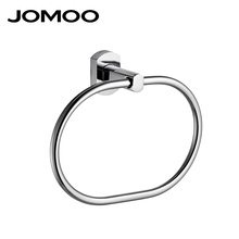 JOMOO European Round Shape Wall Mounted Towel Ring Washcloth Holder Hanger Zinc Alloy Bathroom Accessories Chrome Bath Towel Bar(China)