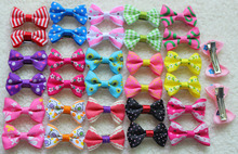 2016 New 60PCS in Pairs  Pet Hair Bows Clip Boy and Girl Color Pet Dog clips Accessories  Cute Dog Hair Bows Grooming Product