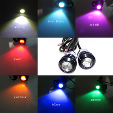 1piece/lot 18MM Eagle Eye Light Car Auto LED DRL Light 5630 2SMD 12V 2W Fog Tail Lamp Waterproof Reverse Lamp AJ