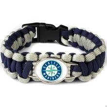 5pcs/lot MLB Baseball Team Seattle Seahawks Paracord Survival Bracelet Friendship Outdoor Camping Sports Parachute Rope