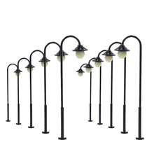 10pcs Model Railway Led Lamppost Lamps Street Lights HO Scale 55mm 12V New LYM12 model outdoor lamp yard light leds(China)