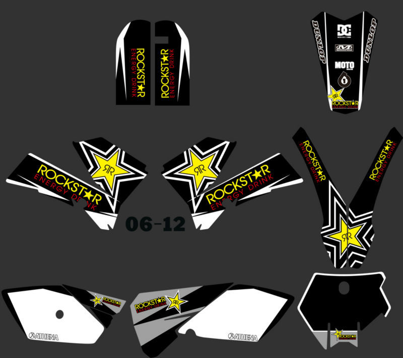 TEAM GRAPHICS /& BACKGROUNDS DECALS STICKER FOR KTM SX85 2006 07 08 09 10 11 12 F